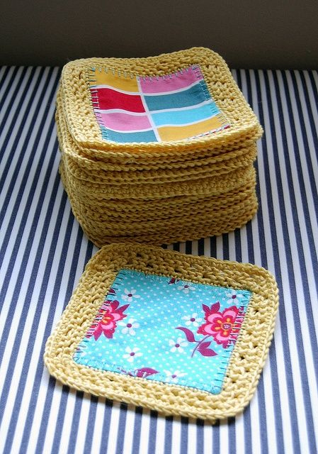 Fusion Crochet Blanket...is this quilt + crochet??! I LOVE this! Think I'll do a combo of crochet granny squares + quilt/crochet squares...sounds awesome...hafta see!!!