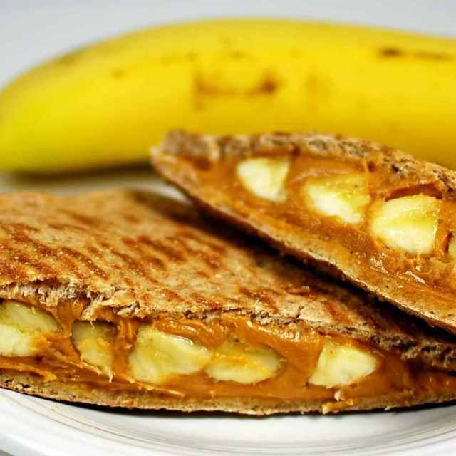 Dr. Phil 20/20 Diet Recipes - Grilled Peanut Butter and Banana Sandwich