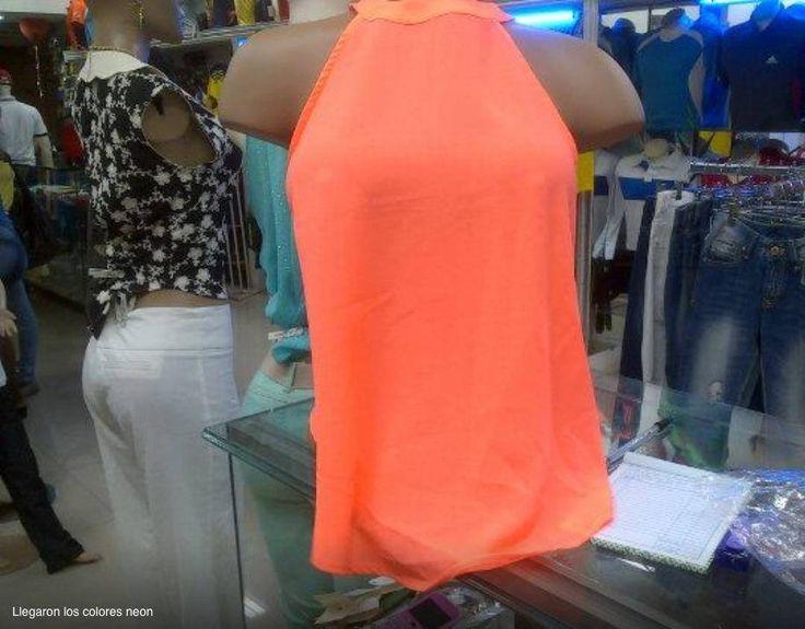 Blusa Naranja cuello de tortuga