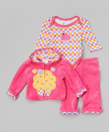 Another great find on #zulily! Pink Ice Cream Zip-Up Hoodie Set - Infant by Duck Duck Goose #zulilyfinds