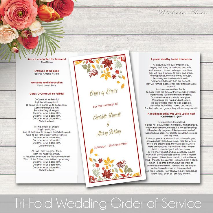 11 best Order of Service   Programs   Order of Ceremony cards - creating an invitation in word