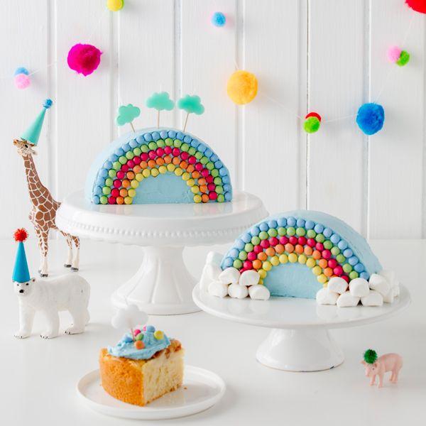 Regenbogenkuchen Leicht Mit Kindern Zu Verzieren Kindergeburtstag Kuchen Ideen Torte Kindergeburtstag Und Regenbogentorte