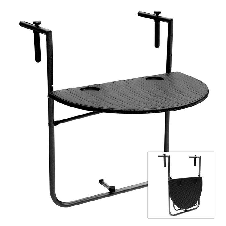 Only US$29.99, iKayaa Adjustable Folding Balcony Deck Table Hanging Patio - Tomtop.com