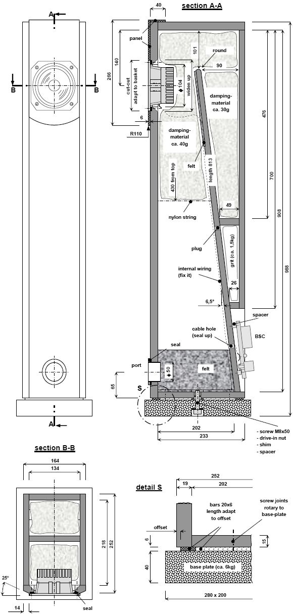 Enclosure Plan - Fostex FX120 ML-TQWT