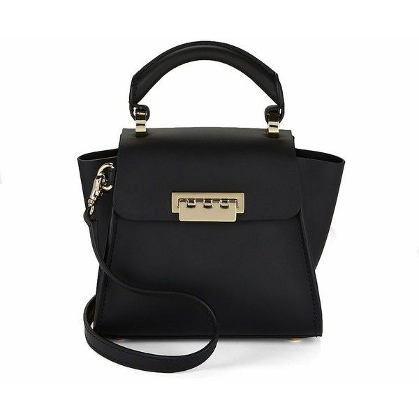 ZAC Zac Posen Mink Fur and Leather Mini Satchel (8.475 CZK) ❤ liked on Polyvore featuring bags, handbags, black, leather satchel purse, top handle satchel handbags, satchel handbags, leather flap handbags and leather satchel