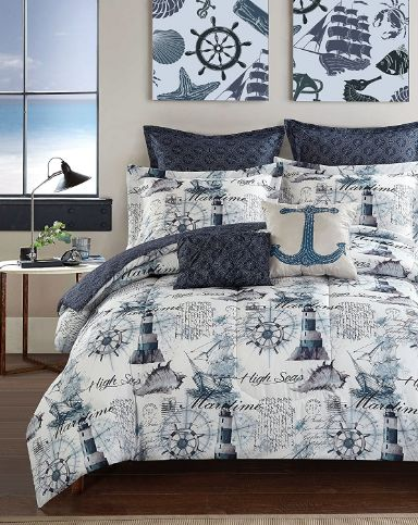 Anchor Bedding Sets! Discover the best anchor themed nautical bedding, comforters, quilts, duvet covers, and more anchor bedding ideas.