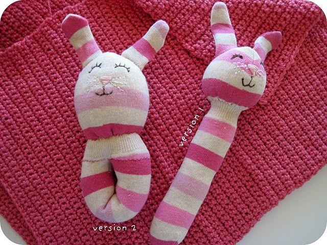 baby sock animal rattles