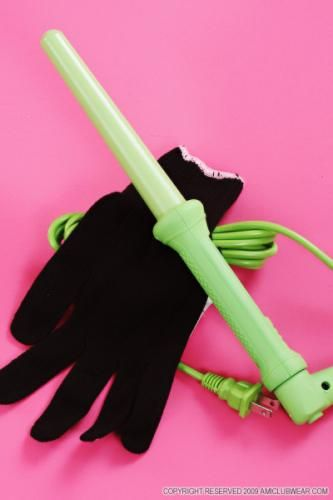 Green Herstyler Grande Ceramic Curling Iron