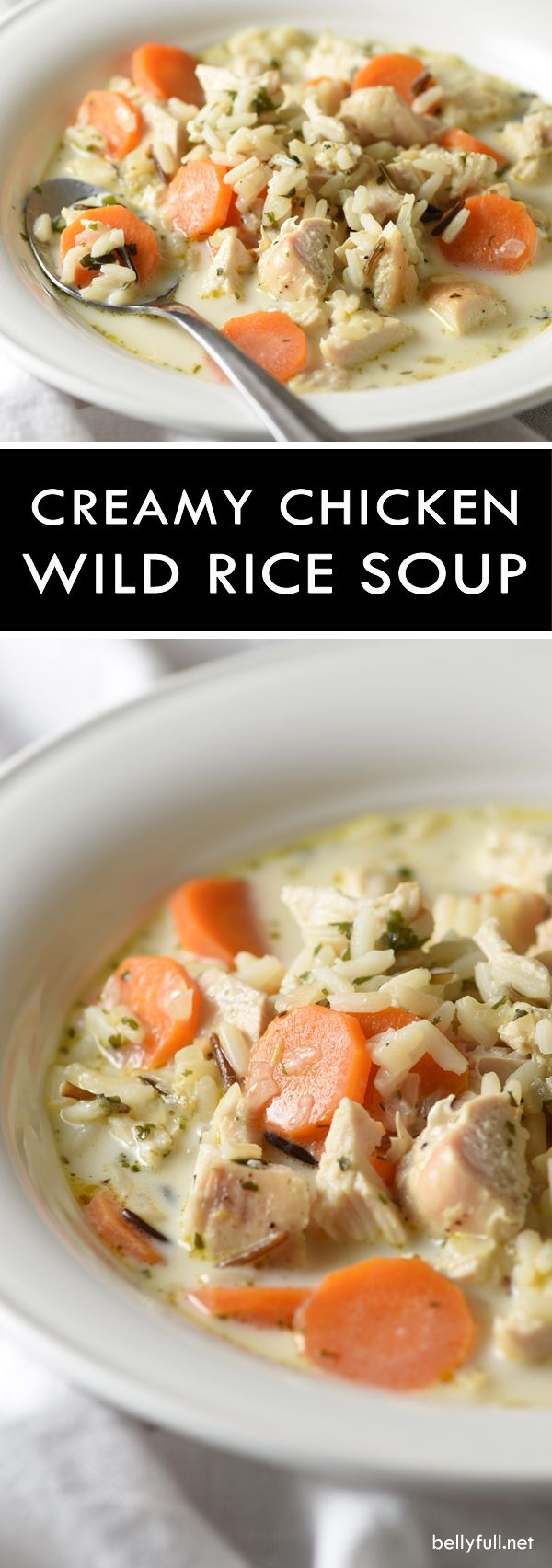 This Creamy Chicken Wild Rice Soup - a wonderfully quick and easy soup made with wild rice instead of noodles and a blend of spices. Delicious!