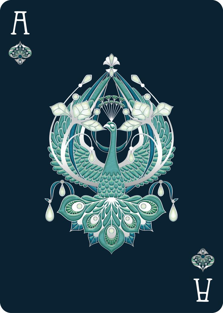 """bonafideplayingcards: """" Nouveau PERLE, a redux version of NOUVEAU Playing Cards, live on Kickstarter http://kck.st/2cZUTwq A completely custom Art Nouveau jewelry inspired deck. A new tuck, back, aces and pips as well as redesigned court cards to..."""