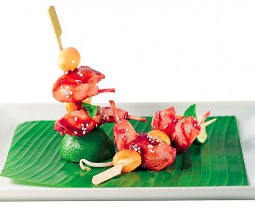 """Pics cuisses de #caille fuméées """"asiane"""" #kumquats. #Recette et #conseils de nos #chefs sur www.feyel.com"""
