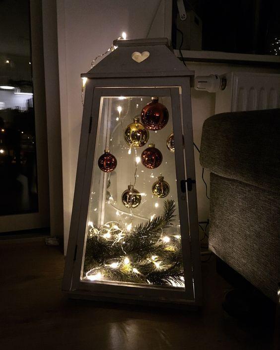 Günstige und einfache DIY Outdoor Weihnachtsschmuck Ideen – Laternen