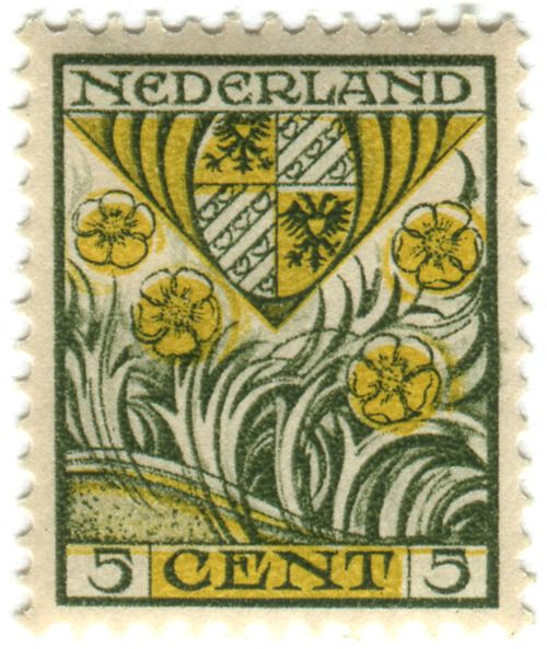 Netherlands postage stamp: Arms of Groningen    c. 1927