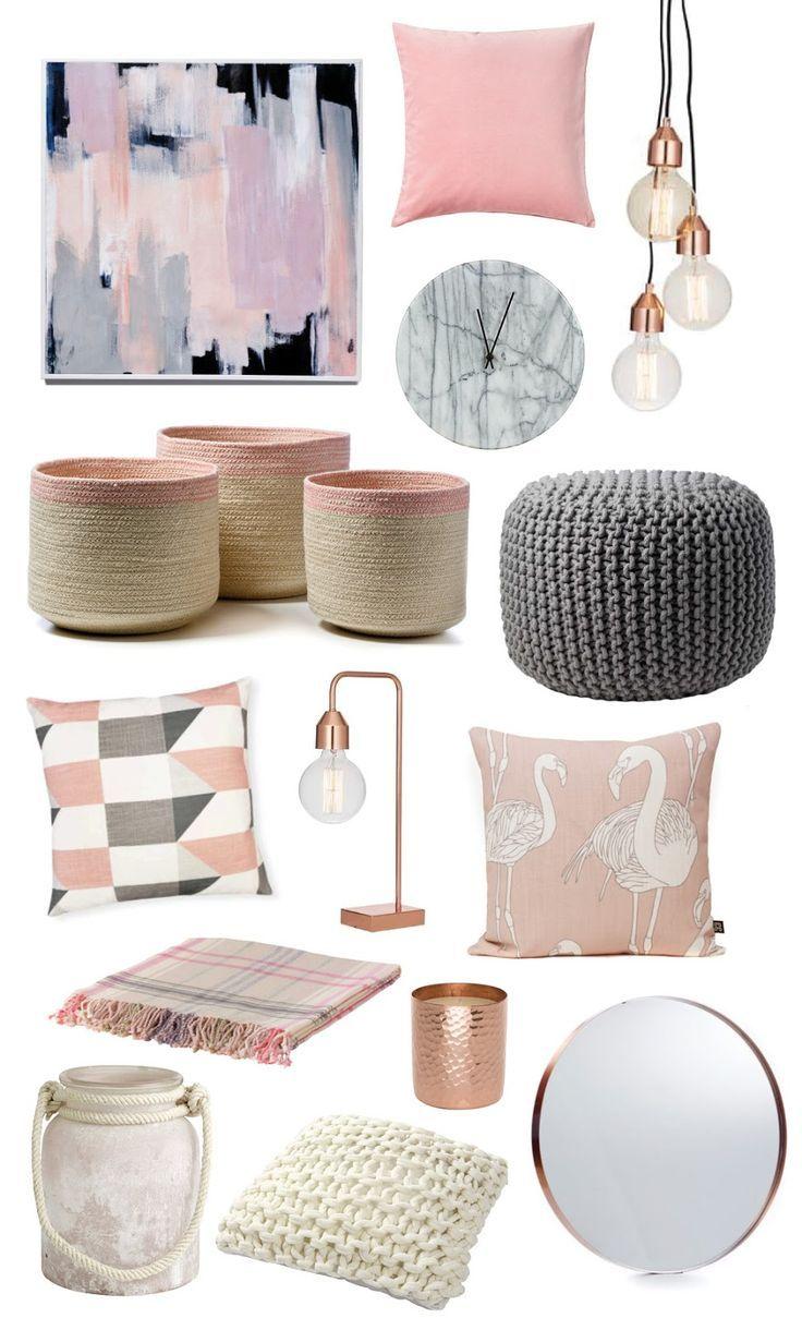 Coastal Style Colour Trend Pink Grey Decor Bedroom Familyroom Ideas Howto Pinkandgrey Neutrals Simple Rose Room Decor Room Inspiration Home Decor