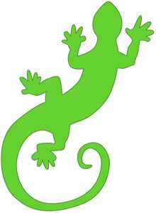 Silhouette Online Store - View Design #11415: gecko lizard