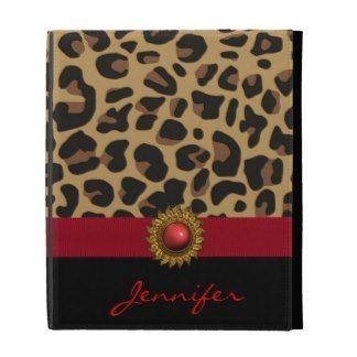 Stylish Leopard Print Custom iPad Case