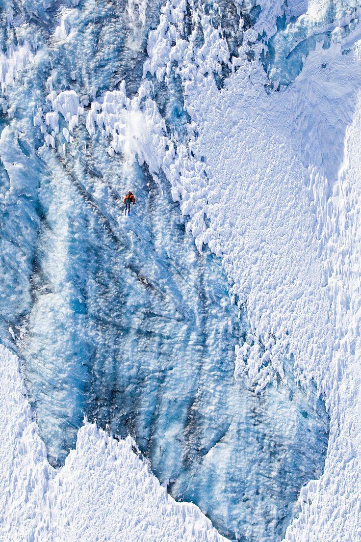 """""""Franchir de telles plaques de glace n'est pas forcément la chose la plus compliquée techniquement : il faut tirer tout droit sans ralentir ou s'arrêter. Samuel et Xavier de le Rue se sont défaits de cette plaque comme s'il s'agissait d'une piste bleue."""""""