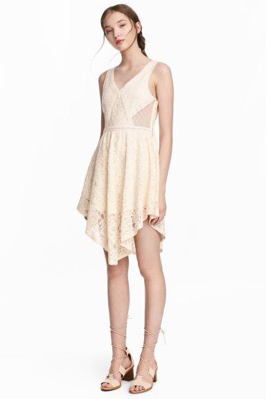 레이스 드레스 - 내추럴 화이트 - Ladies | H&M KR 1