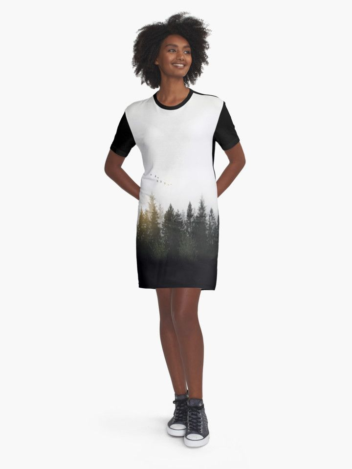 Forest Dress by Nicklas Gustafsson #nature #forest #landscape #photography #digitalmanipulation #doubleexposure #birds #serene #calm #dress #apparel #fashion