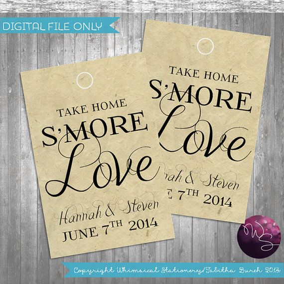 S More Love Favor Tags Fancy Printable File By