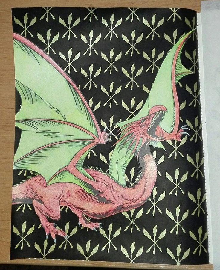 Finished: 12. 11. 2017; Source: HP Coloring Book; Medium: KIN Magic, FC Polychromos, felt pen TESCO, POSCA marker