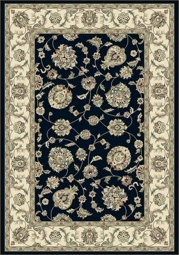 Dynamic Rugs Ancient Garden Collection   Shown In 57365   3464 Blue /  Ivory. Available