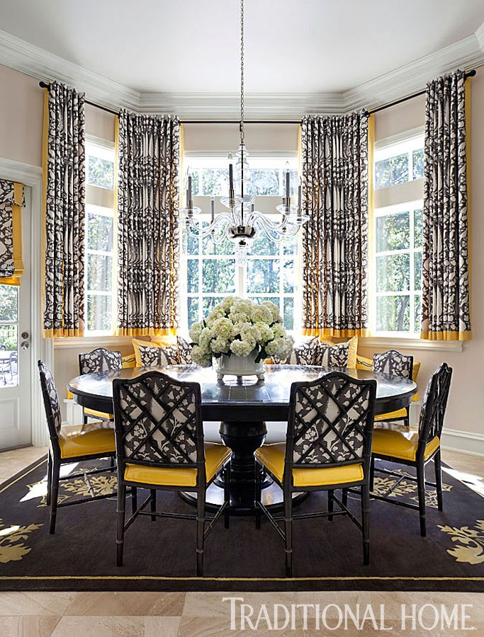 Patterned Window Treatments Arkansas Home With A Stylish Palette Traditional
