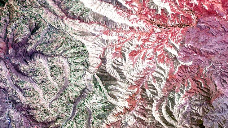 Beautiful, Troubling Photos Show Our Planet as Astronauts See It | Terraced Agriculture, Lanzhou, China   Benjamin Grant/DigitalGlobe  | WIRED.com
