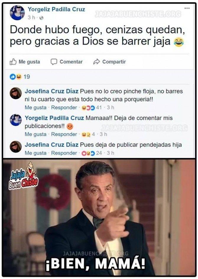 Cuando tu mamá te arruina tu publicación de Facebook Para más imágenes graciosas y memes en Español descarga a App https://www.huevadas.net/app o visita: https://www.Huevadas.net #momos #memes #humor #chistes #viral #amor #huevadasnet