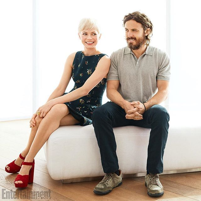 Michelle Williams and Casey Affleck of the new film 'Manchester of By The Sea' were a stunning pair at #TIFF. ❤️ : @Amandamarsalis for EW and People