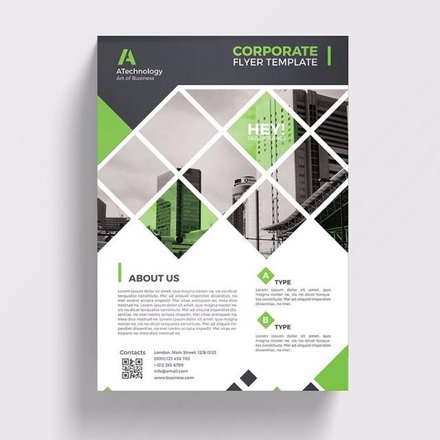 Green Minimal Flyer Template Free Flyer Design Flyer Design Templates Minimal Flyer