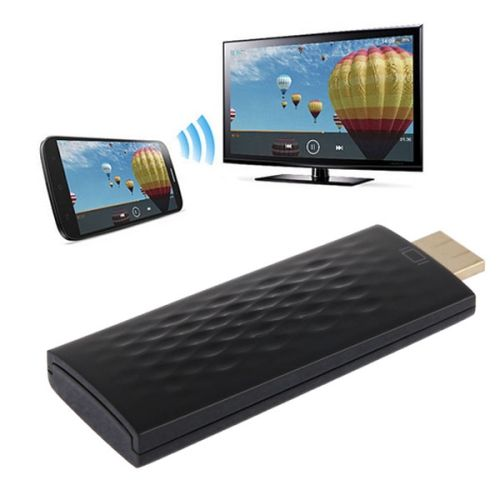 [USD16.65] [EUR15.43] [GBP11.95] Wireless HDMI Miracast DLNA Display Dongle, CPU: ARM Cortex A9 Single Core 1.2GHz, Support WIFI + HDMI(Black)