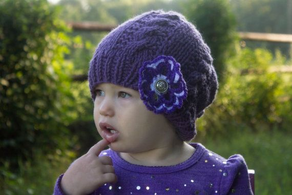 Hey, I found this really awesome Etsy listing at https://www.etsy.com/listing/203813718/purple-baby-girl-hat-baby-cable-hat