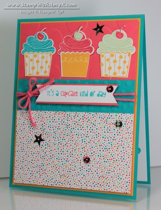 Cupcake Party - Stampin' Up! - Stamp With Amy K