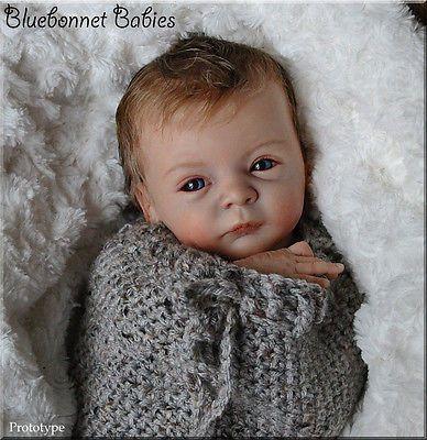 "PROTOTYPE ""Lindea"" ❀Bluebonnet Babies❀ REBORN NEWBORN Baby Doll~Gudrun Legler"