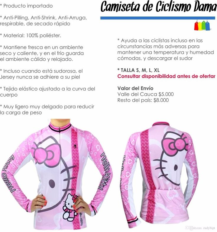LA DESEO!!! Camiseta De Ciclismo Hello Kitty Manga Larga