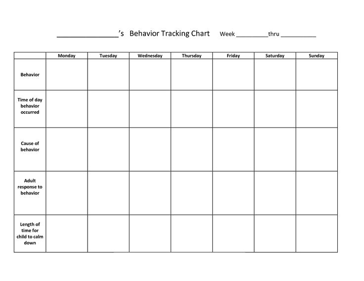 91 best Chart or Table images on Pinterest Behavior charts - blank reward chart template