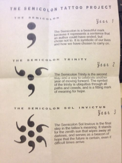 semicolon tattoo - Google Search