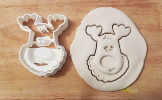 christmas cerf élan vacances hiver cookie cutter par petitcookie
