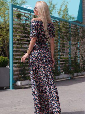 Платье цветочной расцветки - Cosmo - 2524467