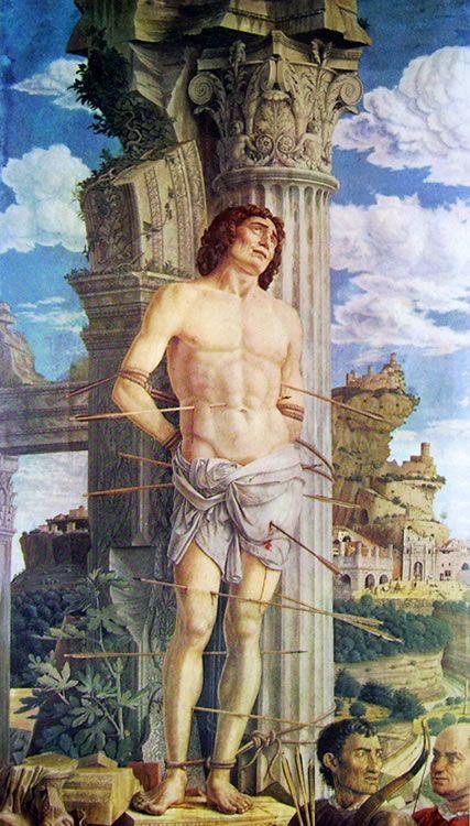 """Andrea Mantegna, """"San Sebastiano"""", 1481 ca., Parigi, Louvre."""
