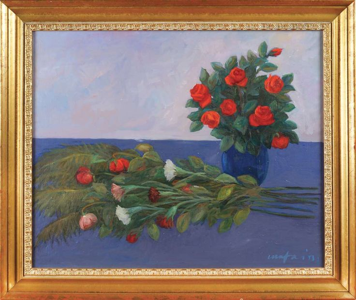 LOT 640 Mario Mafai, oil on canvas, signed and dated 1953 49x60 cm.