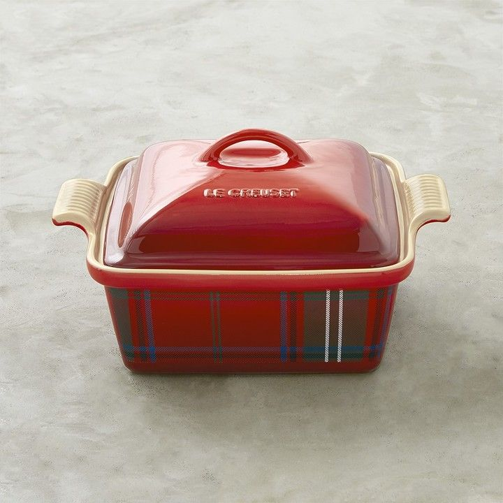 Le Creuset Stoneware Tartan Covered Baker / gift for my self