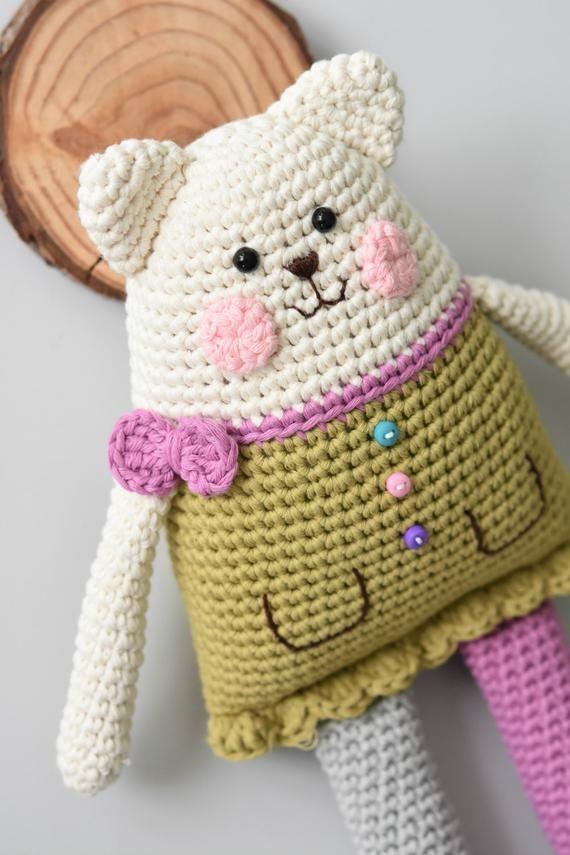 PATTERN – Rag doll cat – amigurumi pattern, crochet pattern, crochet cat, DIY, 4 languages