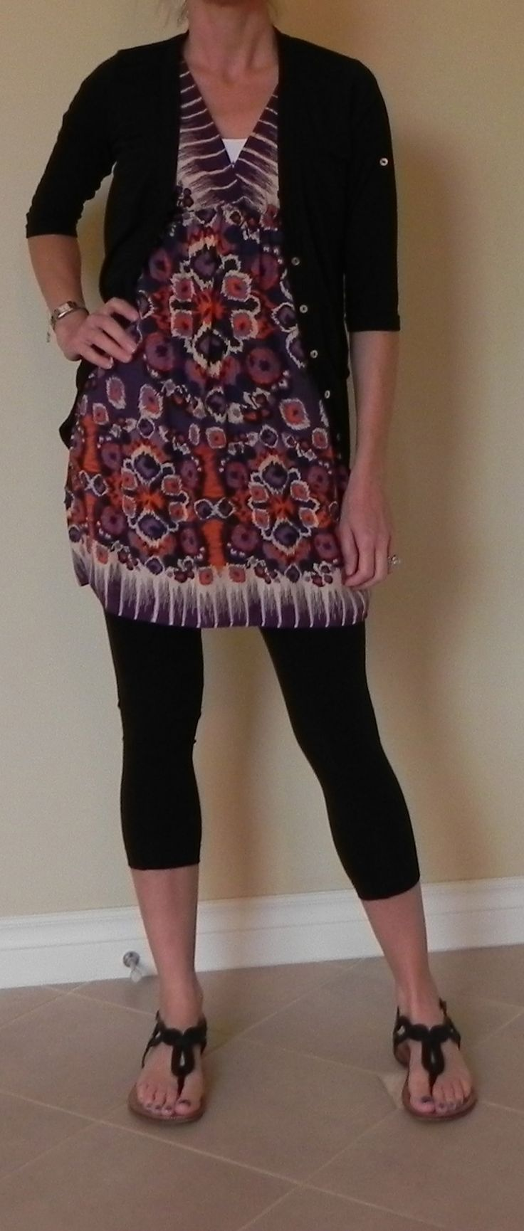 how to wear a tunic dress with leggings
