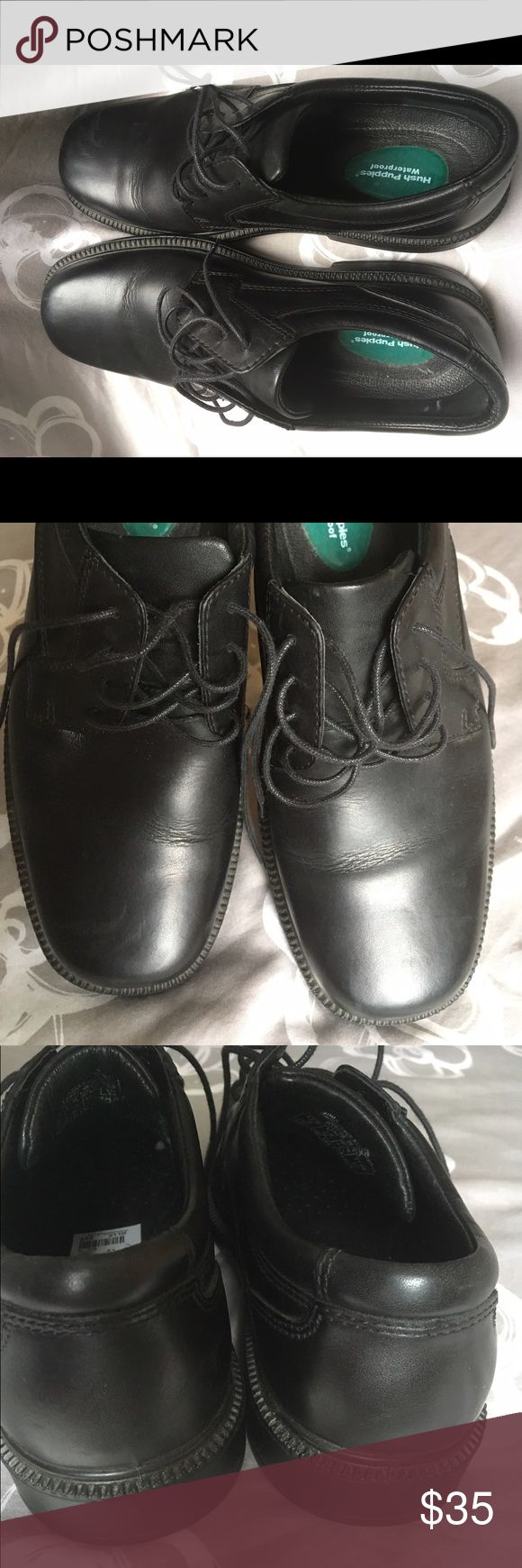 Hush puppies men shoes Black men shoes hush puppies. Used once. Free smoke home. Hush Puppies Shoes