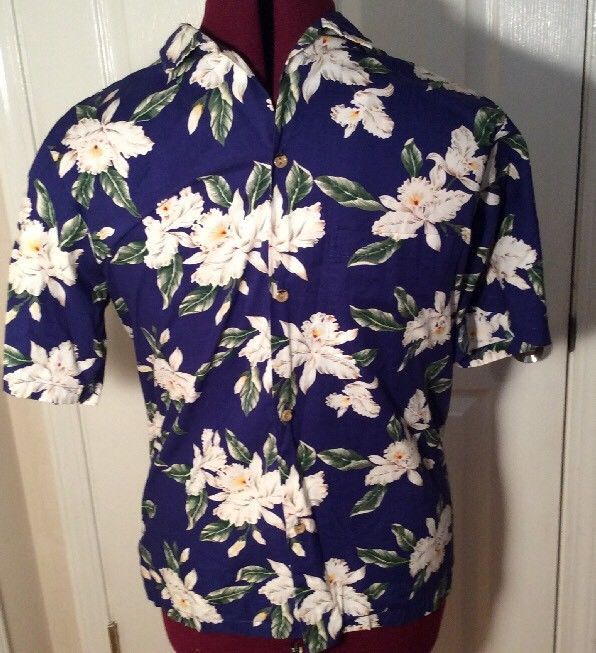Men's Hawaiian Shirt Jade Fashion Hibiscus Navy Cream Yellow Made In Hawaii | Clothing, Shoes & Accessories, Men's Clothing, Casual Shirts | eBay!