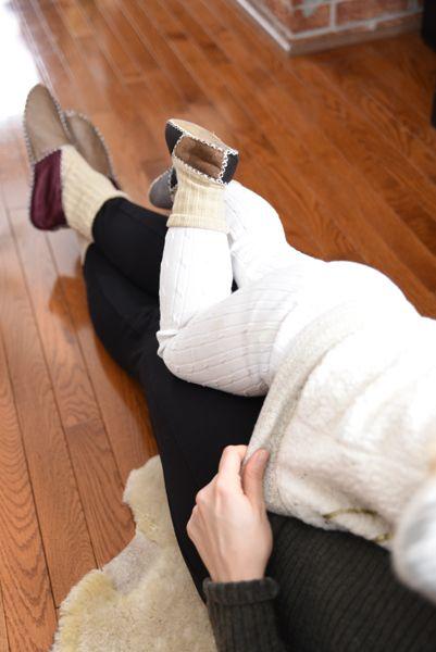 Lazy Sundays With Matching Slipper Socks