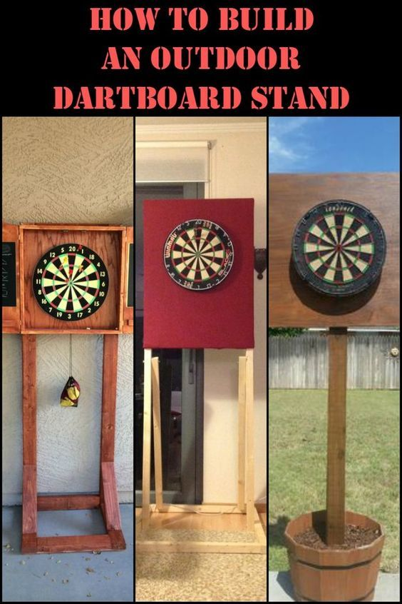 Build A Diy Dartboard Stand Play Outdoors And Double The Fun Dart Board Diy Furniture