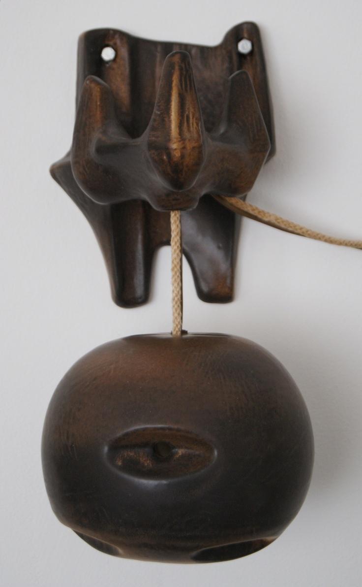 Lore Ceramics Beesel The Netherlands 1967-1981 Matt Camps B96h lamp brown ( bee / pumpkin ) front
